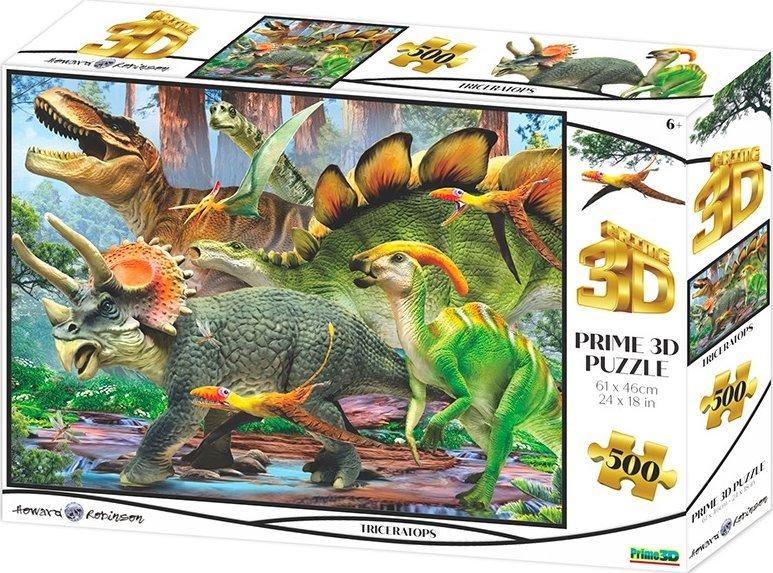 PRIME 3D Puzzle Triceratops 3D 500 dílků
