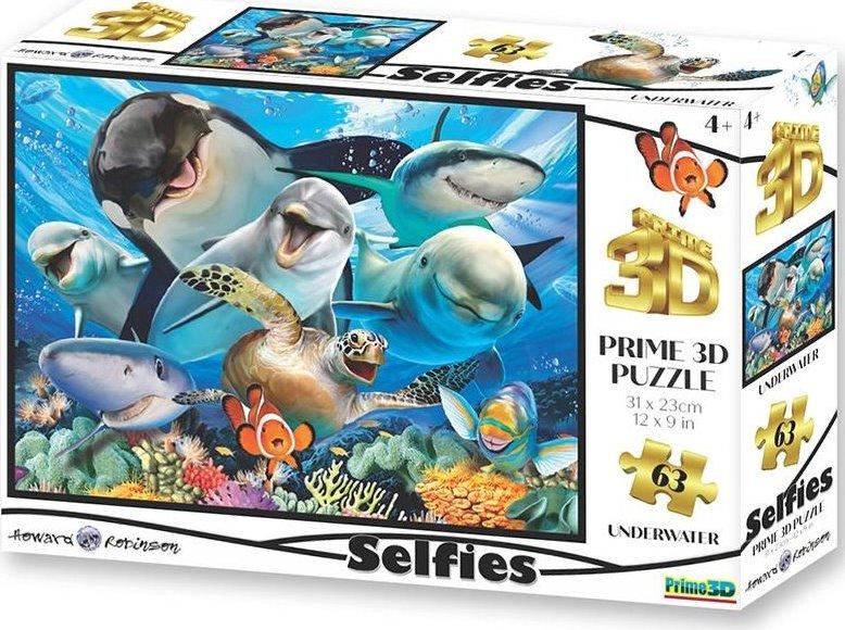 PRIME 3D Puzzle Podvodní selfie 3D 100 dílků