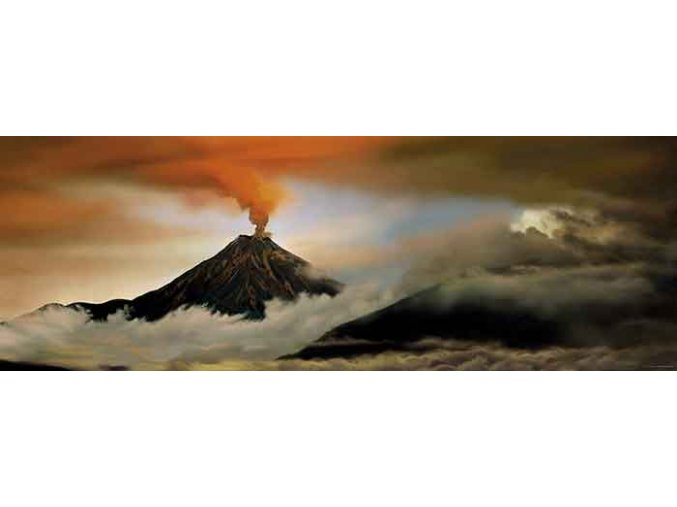 Alexander von Humboldt: Vulkán (Volcano) - panorama