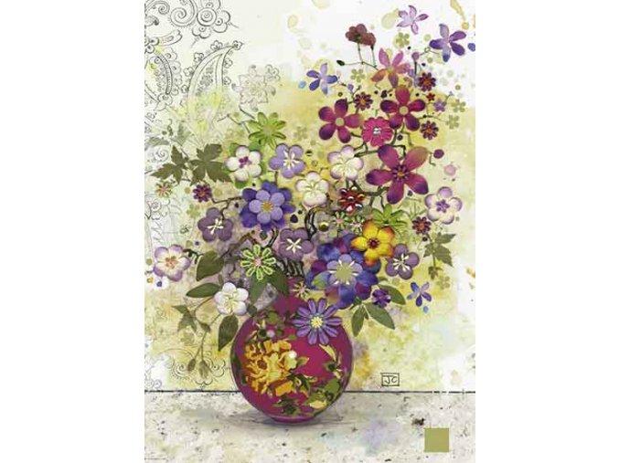 Jane Crowther: Růžová váza (Pink Vase)