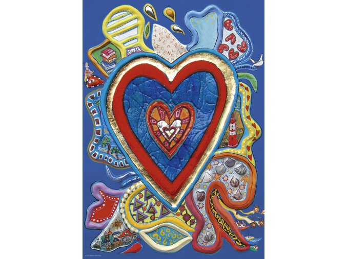 Stefanie Steinmayer: Červené a modré srdce