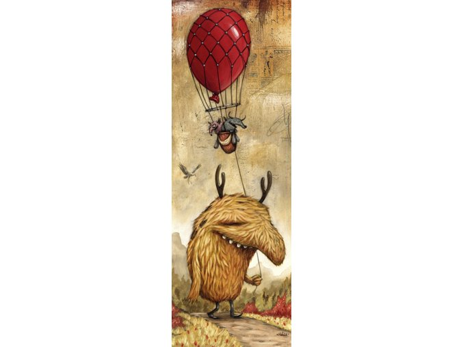 Zozoville: Červený balón (Red Balloon) - vertikální