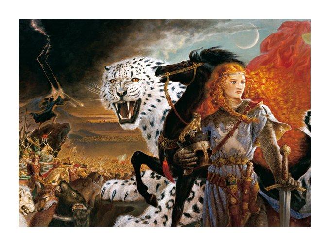 Kinuko Y. Craft: Turandot a bílý tygr - silver metallic