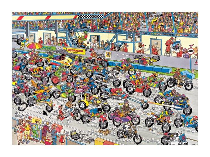 Jan Van Haasteren: Motocyklový závod (Motorbike Race)