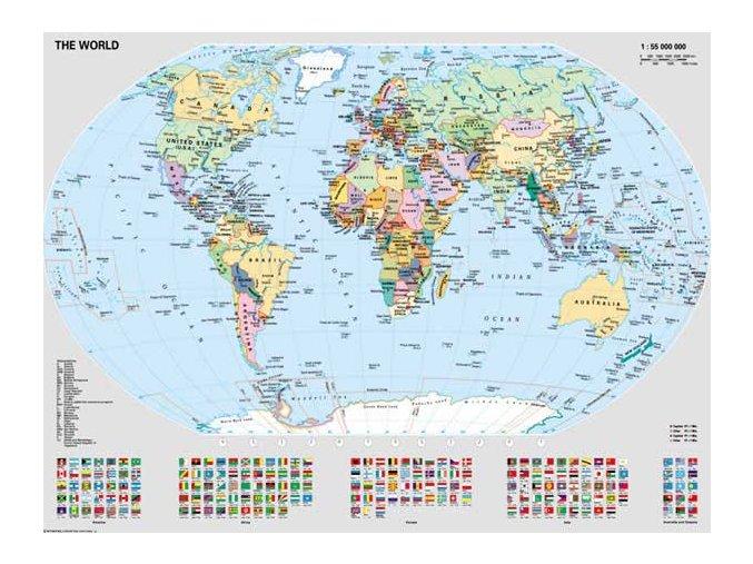 Politická mapa světa - popis anglicky
