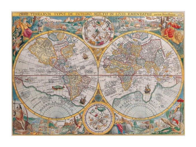 Historická mapa světa 1594
