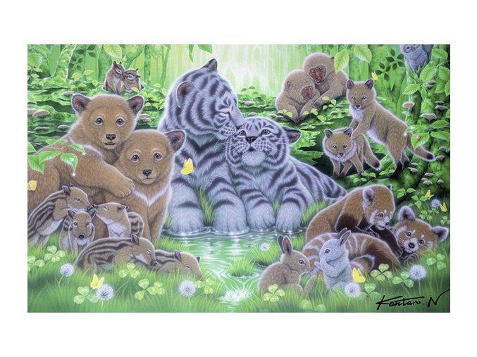 Mláďata v lese