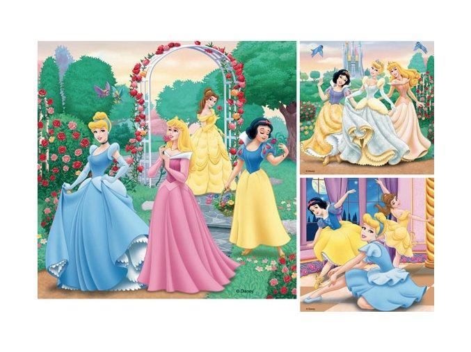 Walt Disney: Princezny - 3 x 49 dílků
