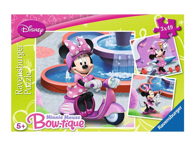Walt Disney: Minnie v parku - 3 x 49 dílků