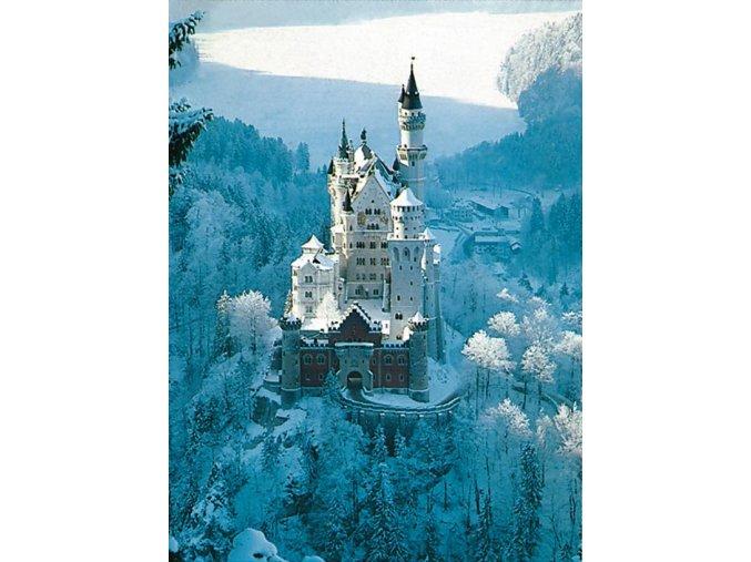 Zámek Neuschwanstein v zimě
