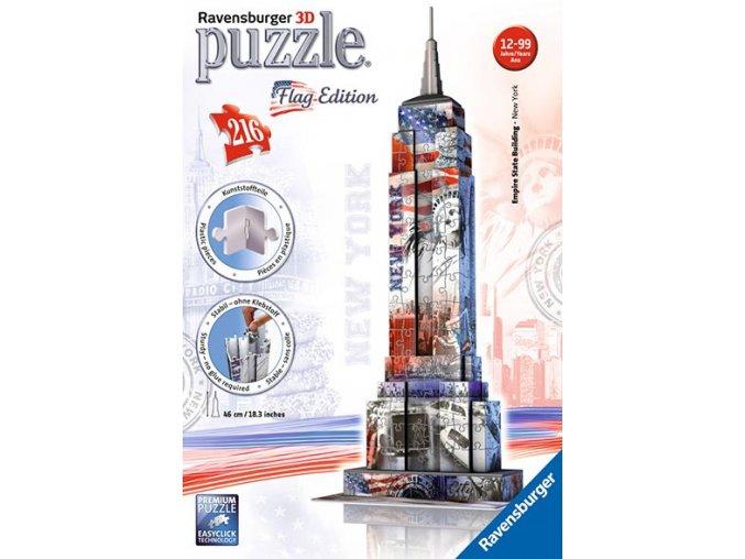 Empire State Building 3D - vlajková edice - 216 dílků
