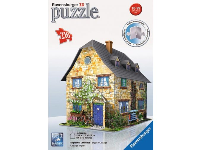 Anglická chata 3D - 216 dílků