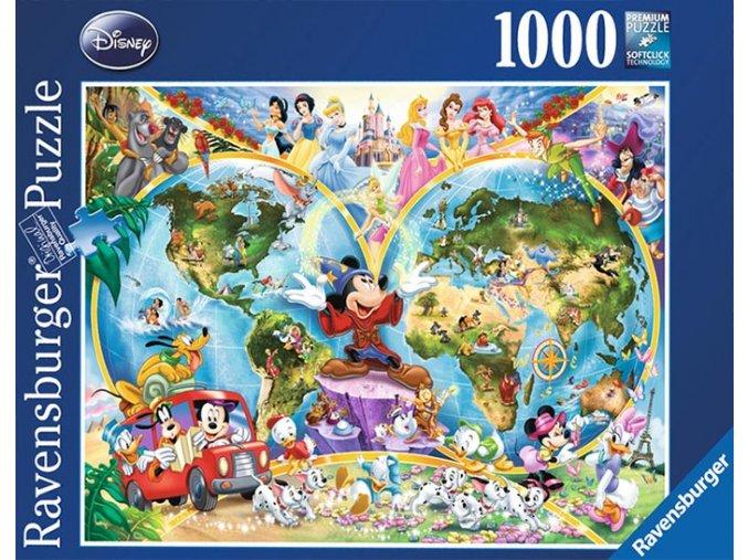 Walt Disney - Mapa Světa