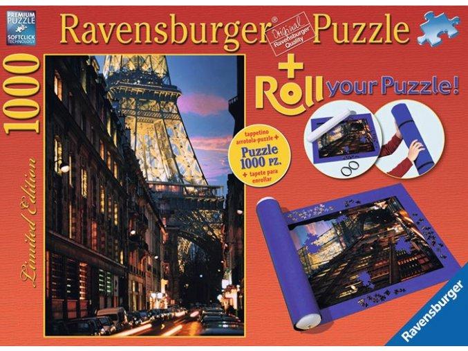 Paříž - Ulice pod Eiffelovkou + podložka na skládání puzzle