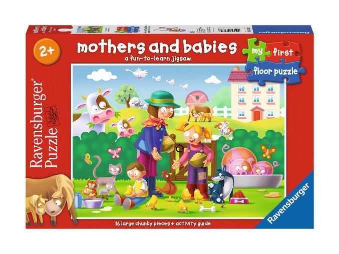 Maminky a děti - podlahové puzzle - od 2 let