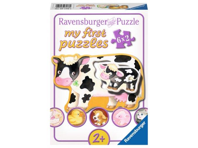 Moje první puzzle: Maminky s mláďátky - 6 x 2 dílky