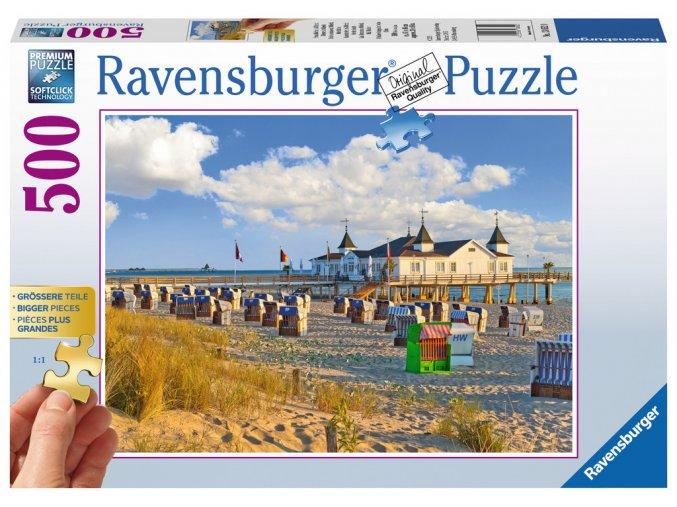 Na pláži v Německu - puzzle s většími dílky
