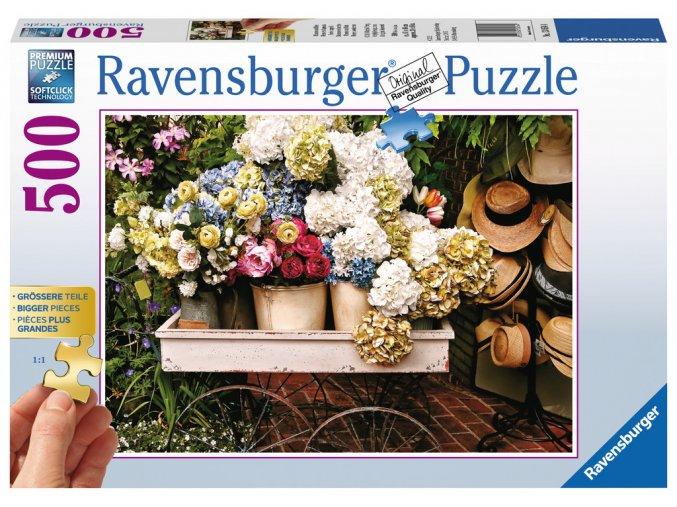 Květiny a klobouky - Gold edition - puzzle s většími dílky