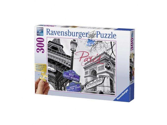 Paříž - koláž - puzzle s většími dílky - 300