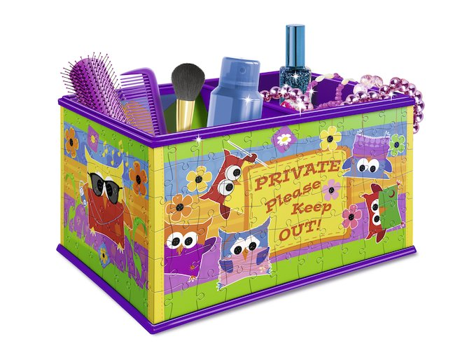 Girly Girl - Skladovací box Sovy - 3D