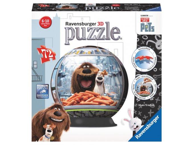 Pets - 3D puzzlebal 72 dílků