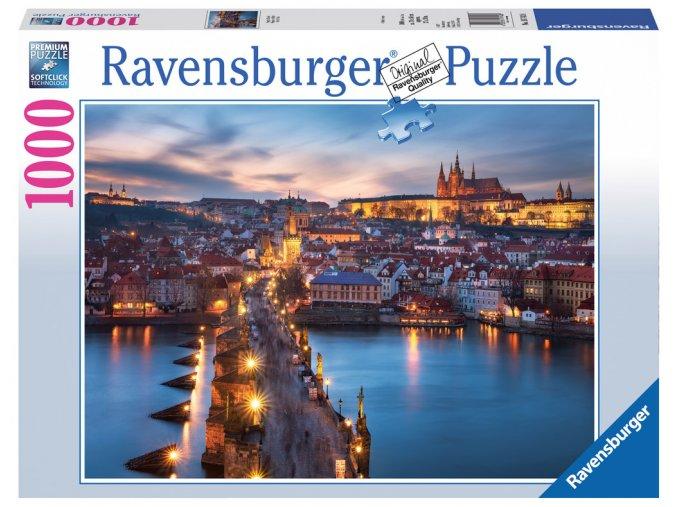 Praha v noci - Hradčany, Karlův most