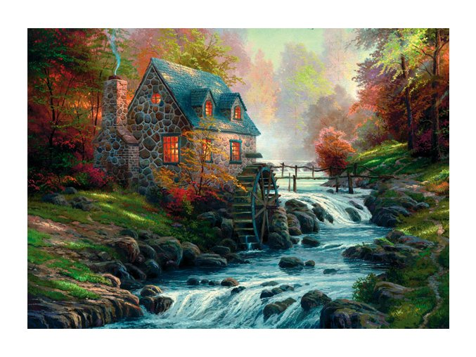 Thomas Kinkade: U starého mlýna (Bei der alten Mühle)