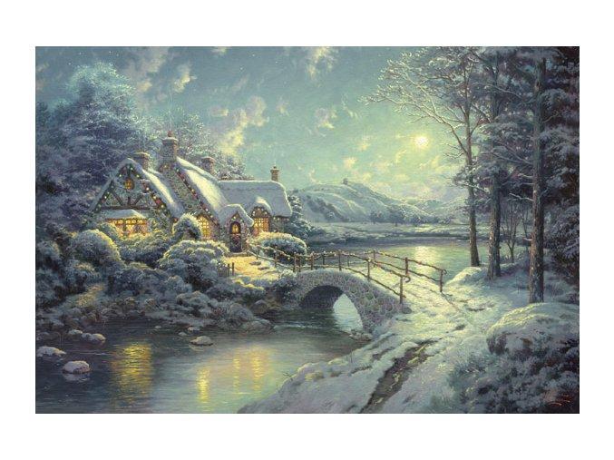 Thomas Kinkade: Zima v měsíčním svitu (Christmas Moonlight)