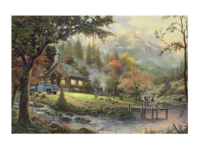 Thomas Kinkade: Idyla u řeky (Idylle am Fluss)