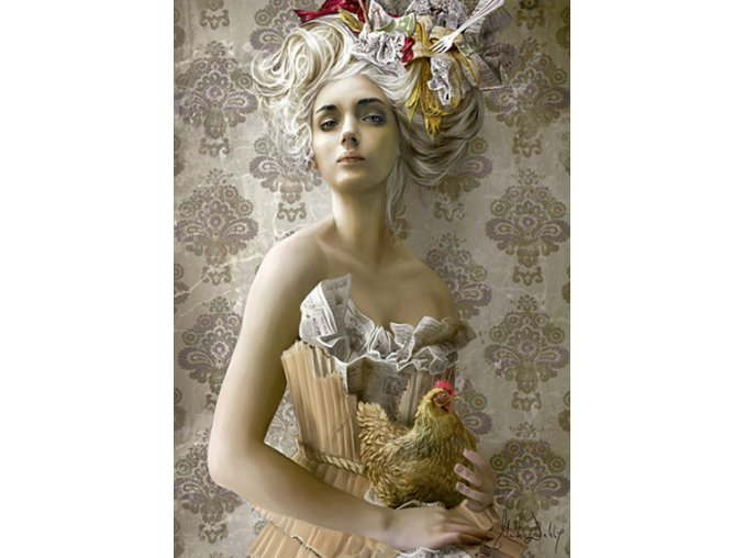 Dáma se slepicí (Lady with chicken)
