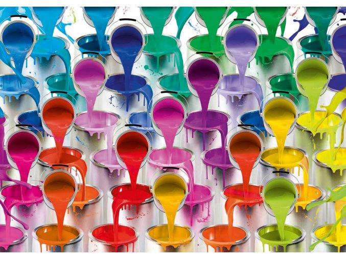 Plechovky s barvami