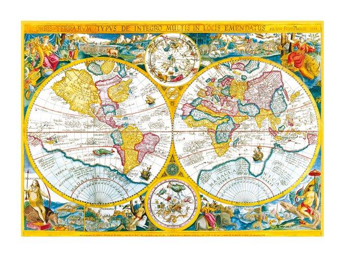 Antická mapa Světa