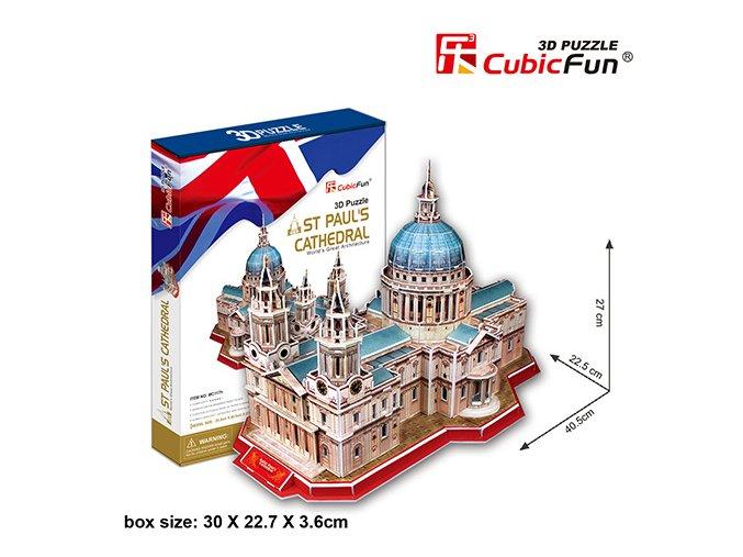 Katedrála Sv. Pavla (Londýn) 3D - 107 dílků