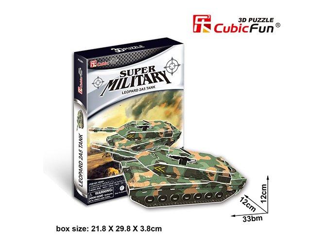 Tank Leopard 2A5 - 3D - 51 dílek