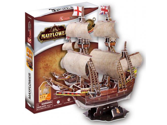 Mayflower - plachetnice  3D - 111 dílků