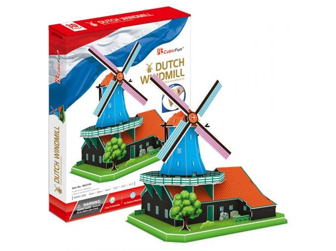 Větrný mlýn 3D - 71 dílek