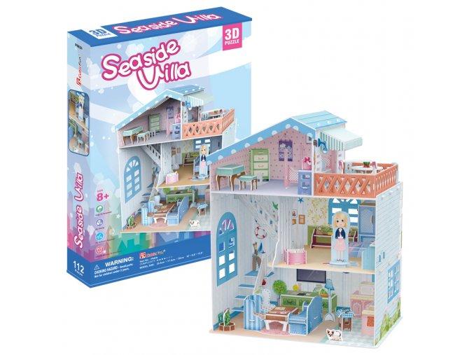 Přímořská vila pro panenky  - 3D - 112 dílků