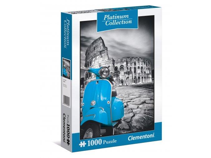 Řím - Skútr u Kolosea - platinum - s platinovým povrchem