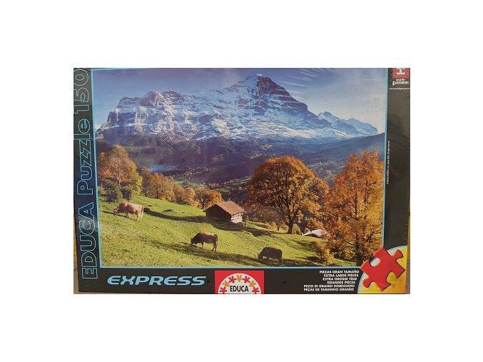 Alpy - puzzle s většími dílky - 150