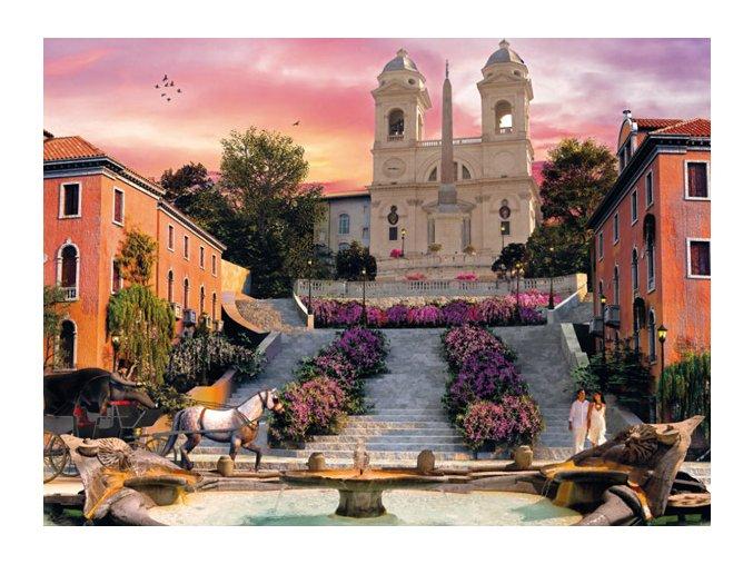 Romantická Itálie: Řím - Španělské schody - HQC