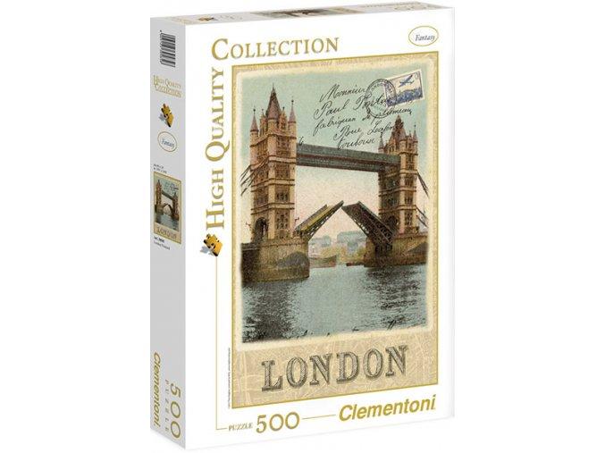 Londýn Tower Bridge - pohlednice - HQC