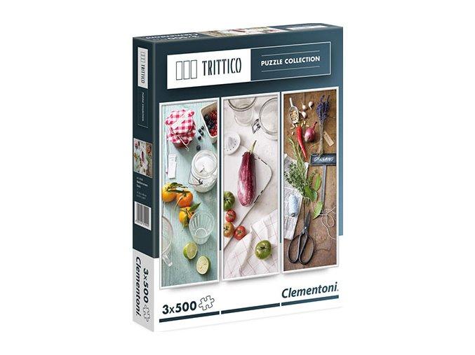 Trittico: Středomořská chuť (Mediterranean Taste) - 3 x 500 dílků