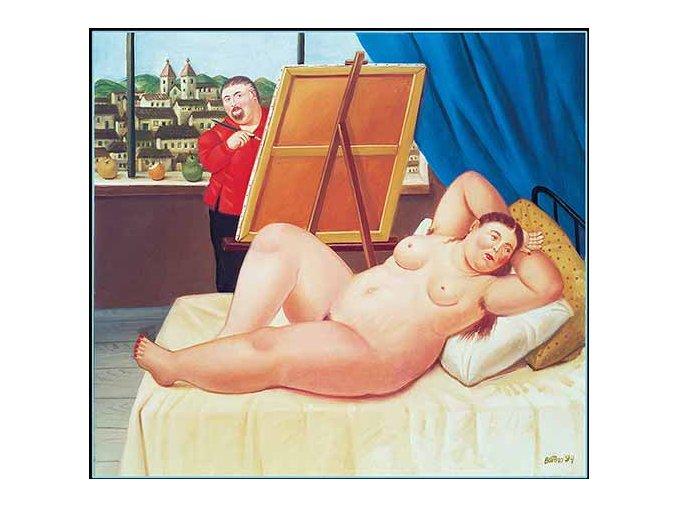 Fernando Botero: Autoritratto con modella, 1994