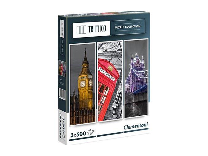 Trittico: Londýn - 3 x 500 dílků
