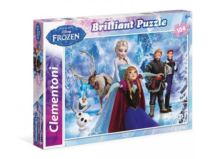 Walt Disney: Frozen - Briliant - 104 dílky