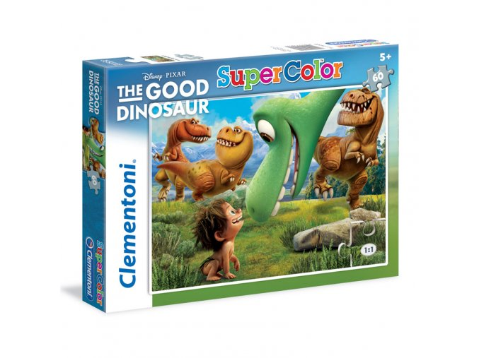 Hodný Dinosaurus - supercolor - 60 dílků