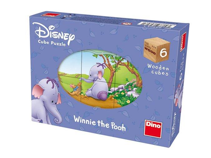 Kubus - Walt Disney:  Heffalump - 6 skládacích obrázkových kostek