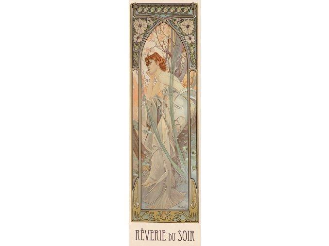 Alfons Mucha: Snění večera - vertikální