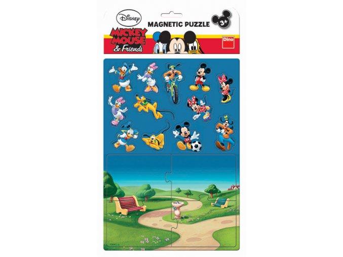 Magnetické puzzle Mickeyho klubík