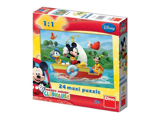 Walt Disney: Maxi puzzle Mickey Mouse - 24 extra velkých dílků